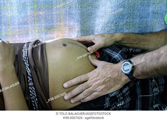 esploracion obstetrica, centro de salud de lancetillo, La Parroquia, Quiche, República de Guatemala, América Central
