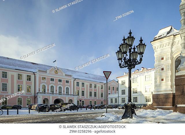 Winter afternoon in Tallinn, Estonia