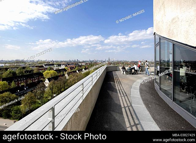 View, roof energy bunker, IBA, International Building Exhibition, Wilhelmsburg, Hamburg, Germany