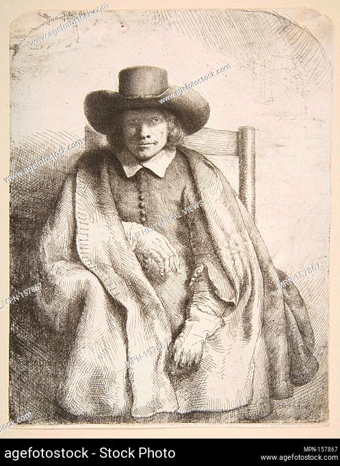 Clement de Jonghe, printseller. Artist: Rembrandt (Rembrandt van Rijn) (Dutch, Leiden 1606-1669 Amsterdam); Date: 1651; Medium: Etching, drypoint