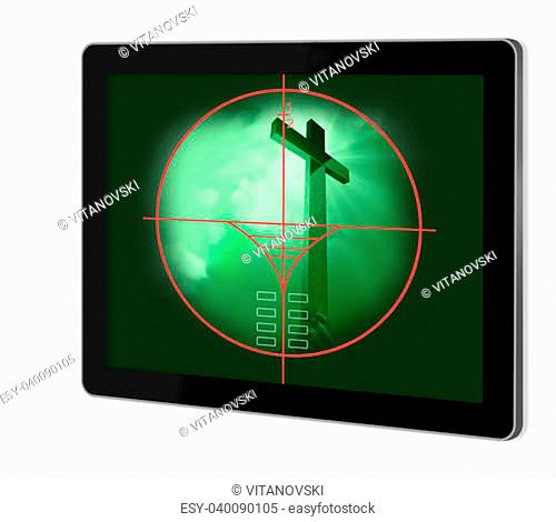 viewfinder of sniper rifle made in 2d software