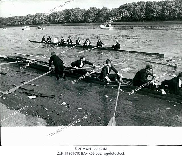 Oct. 10, 1980 - The young blades are at it again: Outside the London Rowing Club, on the Thames towpath at Payney, last Friday