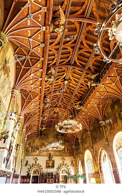Wales, Cardiff, Cardiff Castle, The Banqueting Hall