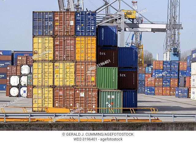 NETHERLANDS, ROTTERDAM, - APRIL 19, 2018, Maritime Cargo Business