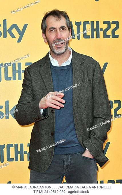 Paolo Calabresi during the Red carpet for the Premiere of film tv Catch-22, Rome, ITALY-13-05-2019