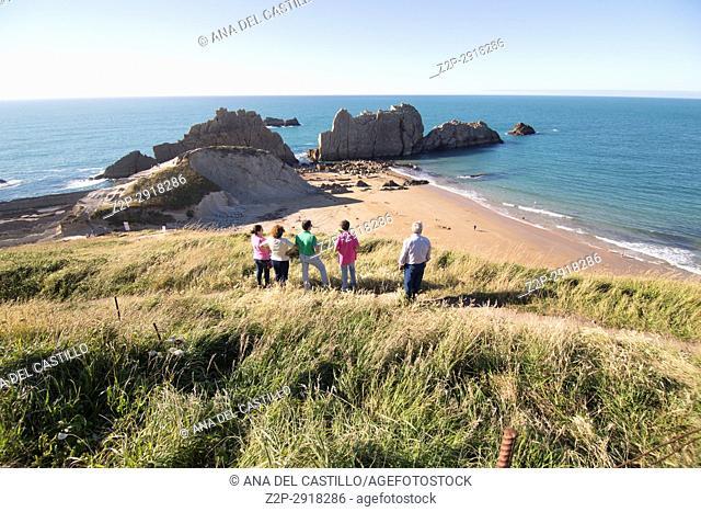 Berria Beach in Cantabria Spain