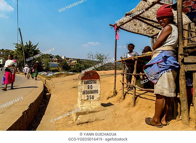 Sellers on roadside, National 7 near Ambositra, Madagascar
