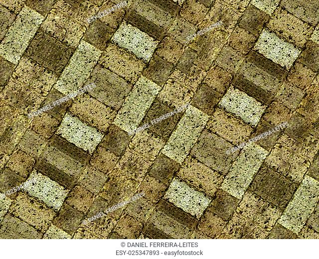 Brown tones grunge stone pattern texture also useful as background