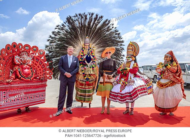 King Willem-Alexander and Queen Maxima of The Netherlands arrives at Cochin International Airport in Kochi, on October 17, 2019