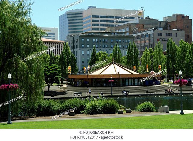 Spokane, WA, Washington, Looff Carrousel, Riverfront Park