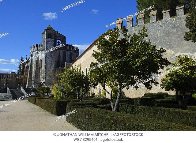 PORTUGAL Tomar -- 2015 -- The exterior of the round church inside the Convento de Cristo - the one-time headquarters of the Knights Templar in Tomar Portugal --...