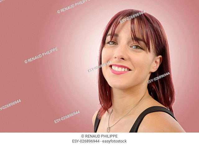 portrait of beautiful young woman with red hairs