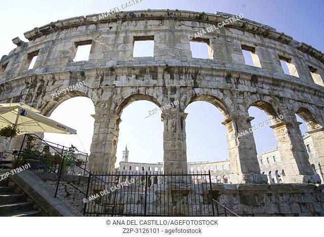 Roman amphitheatre (Arena) in Pula in Istria Croatia