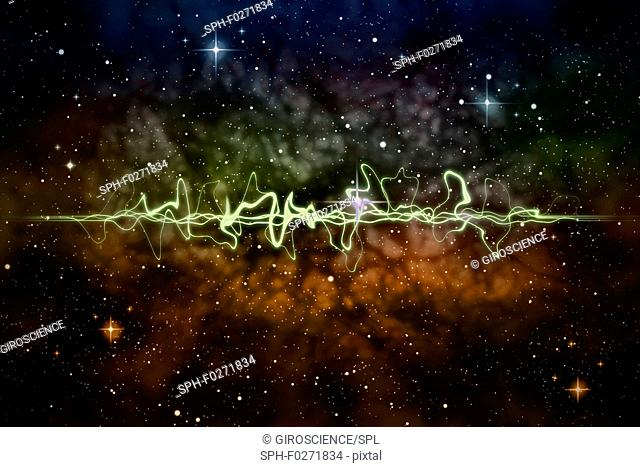 Quantum entanglement, conceptual illustration