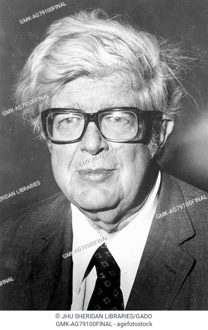 Portrait of George Reedy, journalist and White House Press Secretary for President Lyndon B. Johnson from 1964 to 1965, 1978