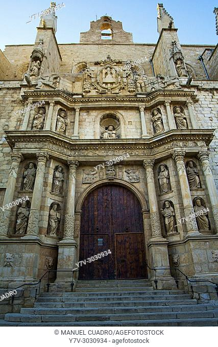 Church of Santa Maria la Major. Montblanc, northern Tarragona province, Catalonia, Spain