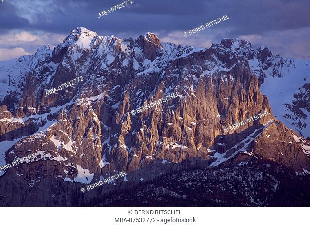 View of Laserz Face from the north, Lienz Dolomites, East Tyrol, Austria
