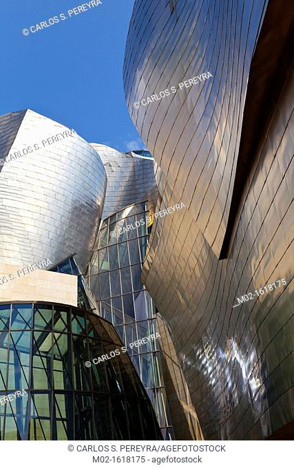 The Guggenheim Museum of Contemporary Art of Bilbao Bilbo, located on the North Coast of Spain in the Basque region. Nicknamed The Hole