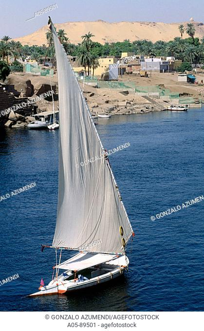 Sailing on the Nile River. Aswan. Egypt