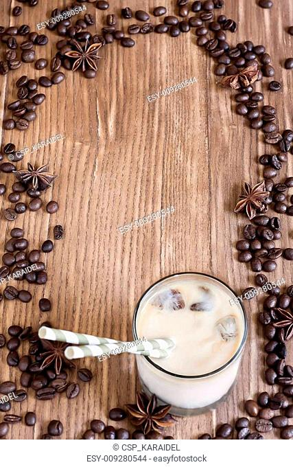 Ice coffee background