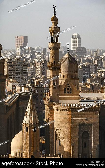 Cairo, Egypt The Masjed Almahmodyah mosque and minaret
