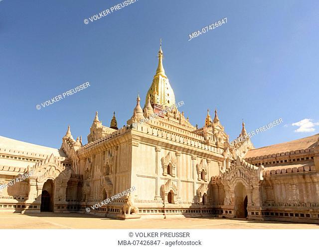 Bagan, Ananda Temple, Mandalay Region, Myanmar (Burma)