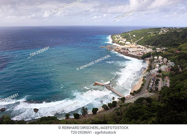 Over View of Flying Fish Cove, Christmas Island, Australia