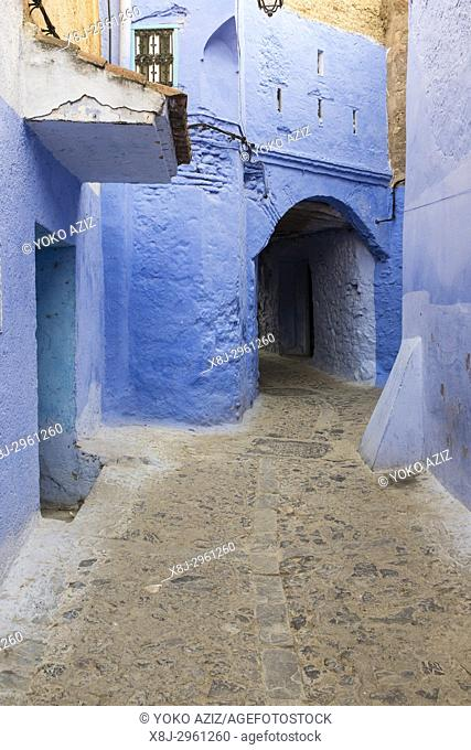 Morocco, Chefchaouen. The colors of town