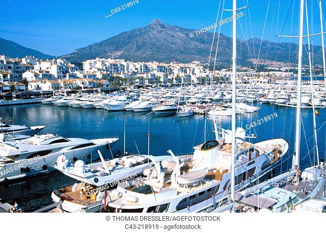 Harbour of Puerto Banus, near Marbella. Costa del Sol. Málaga province. Andalusia. Spain