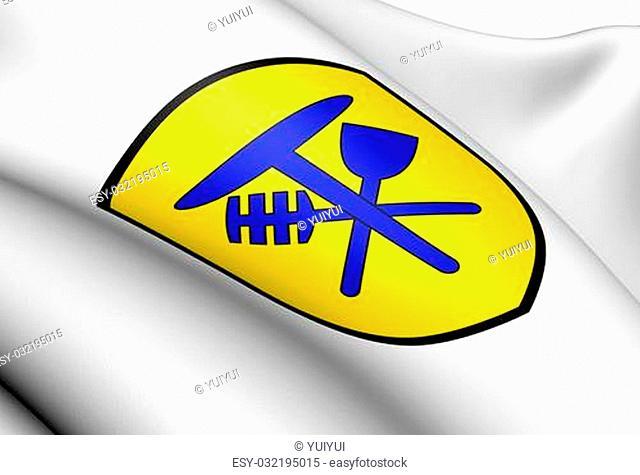 Hemmiken Coat of Arms, Switzerland. Close Up