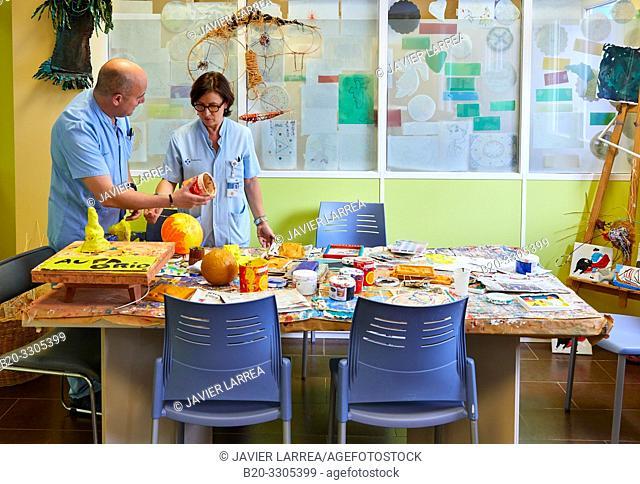 Crafts workshop, Psychiatry, Hospital Donostia, San Sebastian, Gipuzkoa, Basque Country, Spain