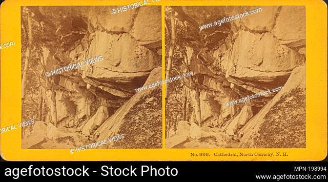 Cathedral Ledge, North Conway, N.H. Kilburn Brothers (Photographer). Robert N. Dennis collection of stereoscopic views United States States New Hampshire