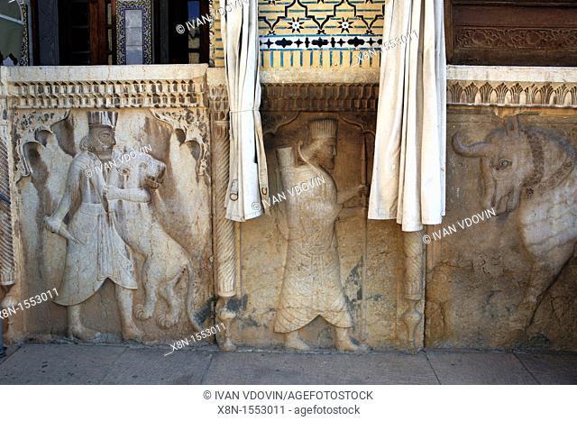 Traditional art, Naranjestan palace and garden 1879-1886, Shiraz, province Fars, Iran