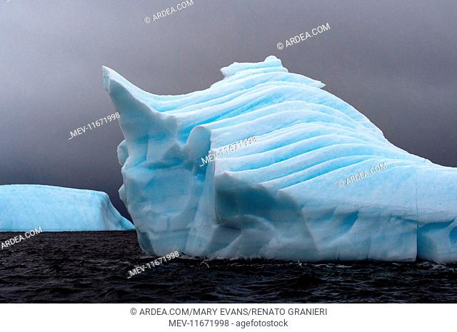 Iceberg floating at sea