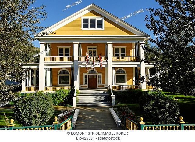 Historic mansion at Dawson City, Yukon, Canada