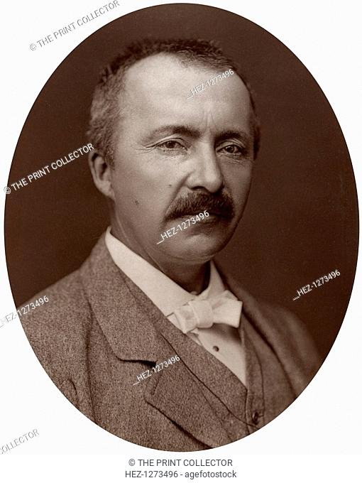 Dr Heinrich Schliemann, German Homeric Archeologist, 1877. Schliemann excavated the sites of the ancient cities of Mycenae and Troy
