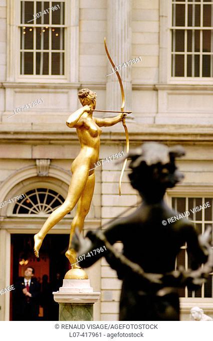 Statue of archer. Metropolitan Museum of Art. New York City. New York. United States