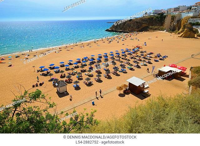 Albufeira Portugal Beach Algarve Region Faro Atlantic Ocean