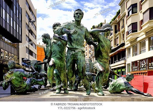 Monumento al Encierro, Pamplona, Navarra, Spain
