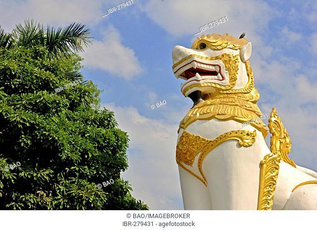 Dragon at Shwedagon Pagoda, Yangon, Myanmar, Burma