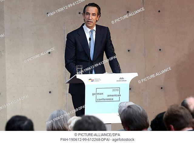 12 June 2019, Berlin: Justin Muzinich, Deputy Minister of Finance of the USA, attends the German-American Conference of the Atlantic Bridge and the American...