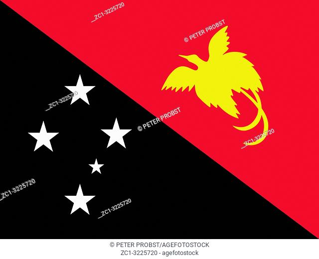 Flag of the Independent State of Papua New Guinea