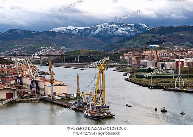Celaya shipyards in the River Nervion in Erandio, Bizkaia