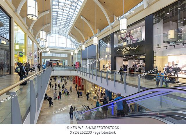 Cardiff, South Glamorgan, Wales, United Kingdom. Queens Arcade shopping centre