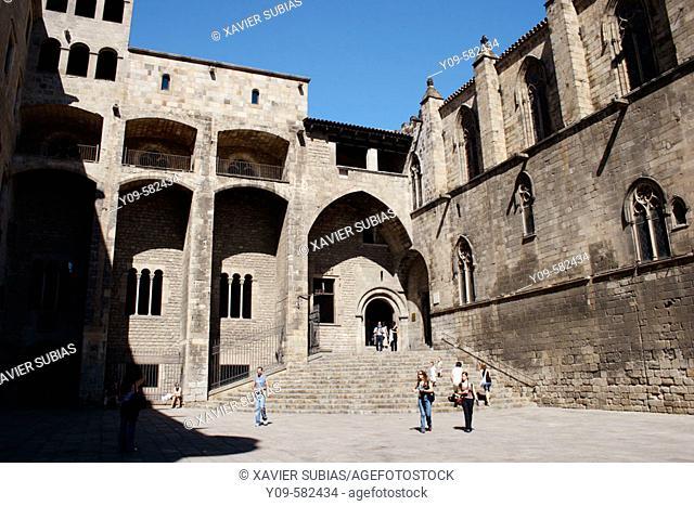 Palau Reial Major, Plaça del Rei, Gothic Quarter, Barcelona, Catalonia
