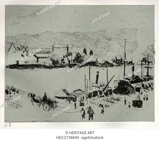 Quai Boieldieu in Rouen, c. 1896. Creator: Camille Pissarro (French, 1830-1903)