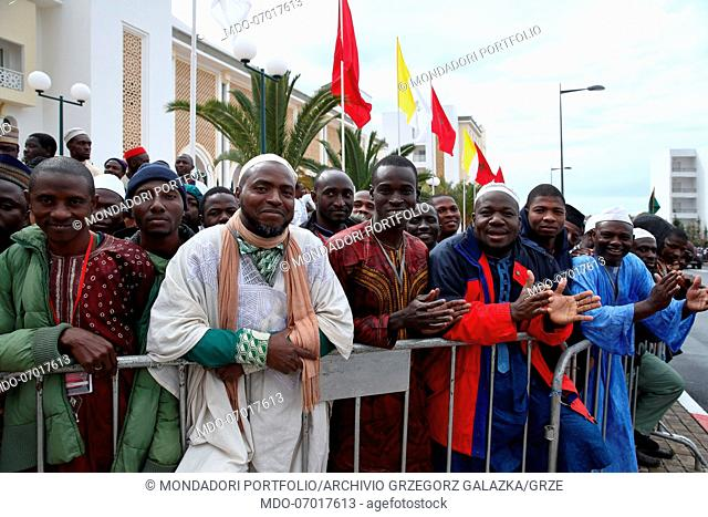 The Moroccan people during the papal visit to the Mohammed VI Institute for the formation of Imam, Morchidine and Morchidati
