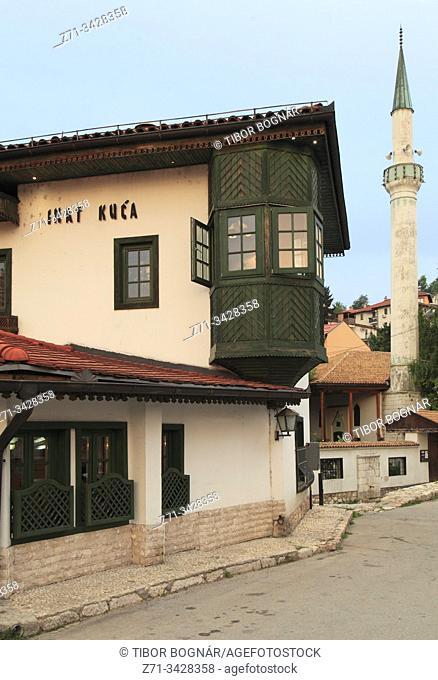 Bosnia and Herzegovina, Sarajevo, Spite House, minaret