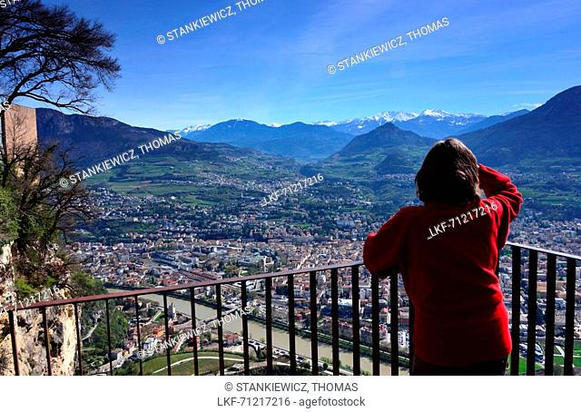 View from Monte Bondone on Trento, Trentino, Italy