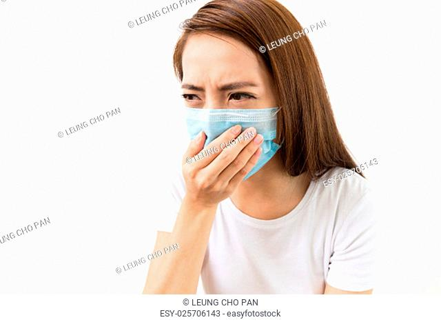 Asian woman using the medical face mask
